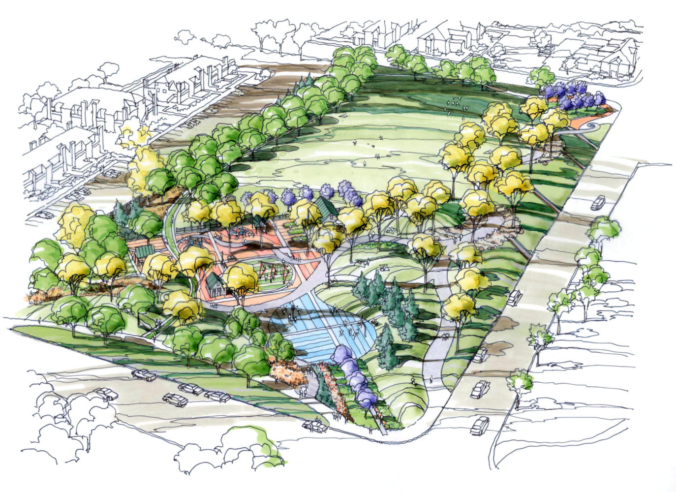 County Lane Park - Rendering